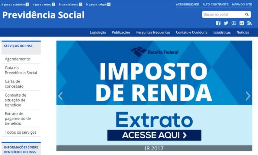 previdencia social informe de rendimentos irpf 2016