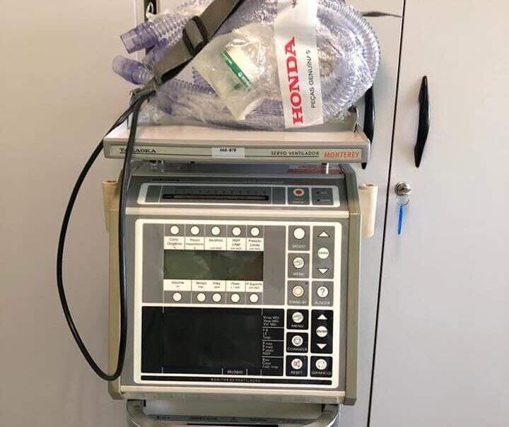 Nova Odessa recebe respirador consertado pela Honda