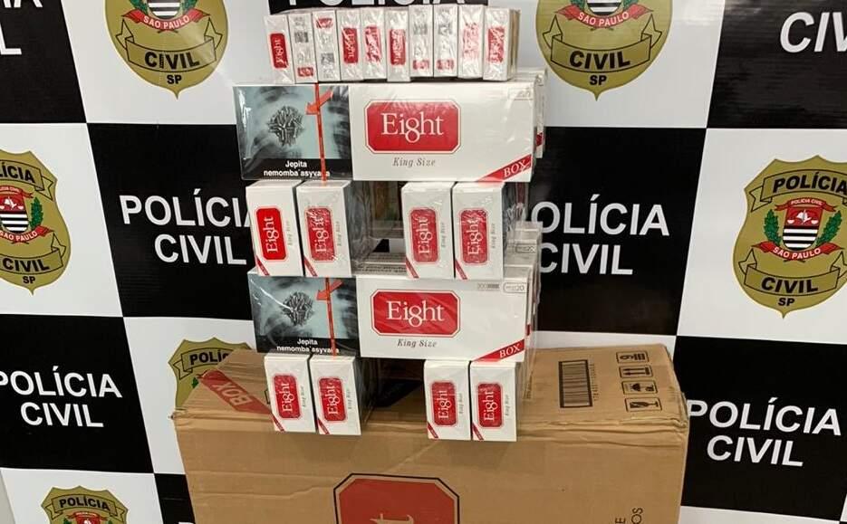 Homem que vendia cigarro paraguaio no portão de casa é preso em Santa Bárbara