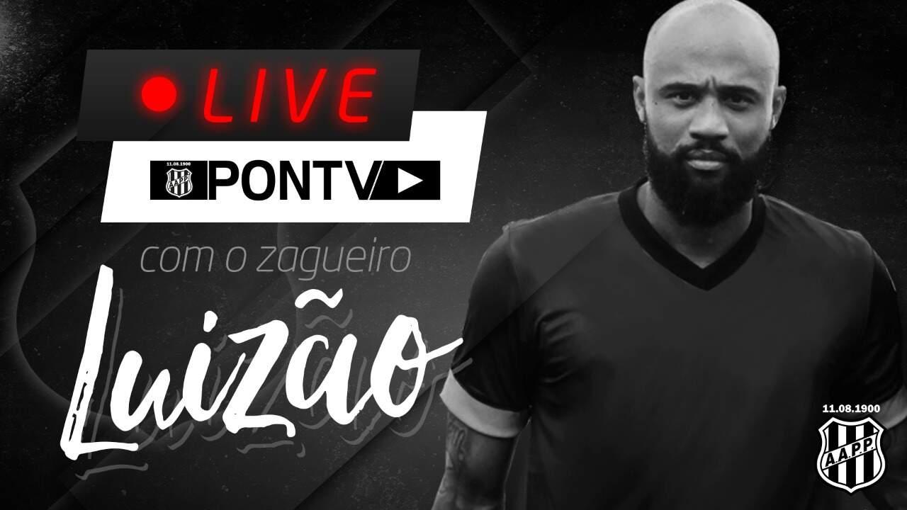 Em 'live', zagueiro Luizão se apresenta à torcida da Ponte