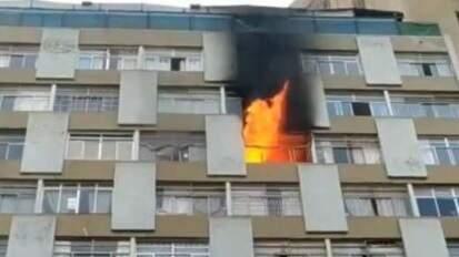 Mulher morre após cair de apartamento que pegou fogo no Centro de São Paulo