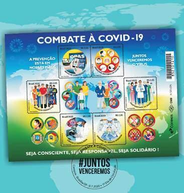 Correios lançam selos para lembrar ações de combate à Covid-19