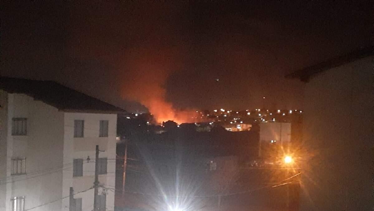 Incêndio na Gruta Dainese devasta área de 9 mil metros quadrados