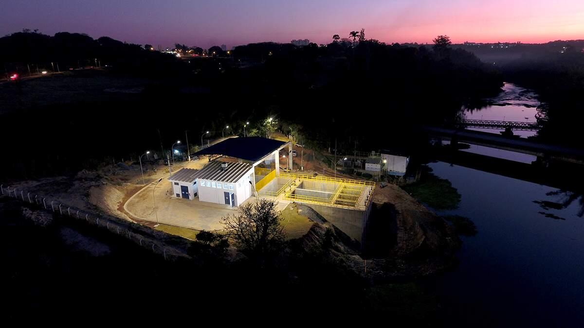 Obra de captação de água do Rio Piracicaba será entregue até outubro