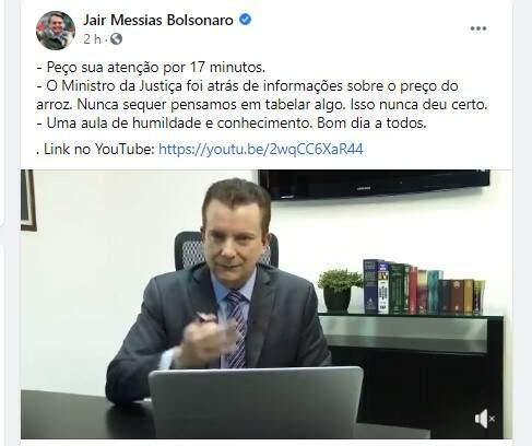 Bolsonaro publica vídeo em que Russomano rebate Kataguiri sobre abusos no varejo