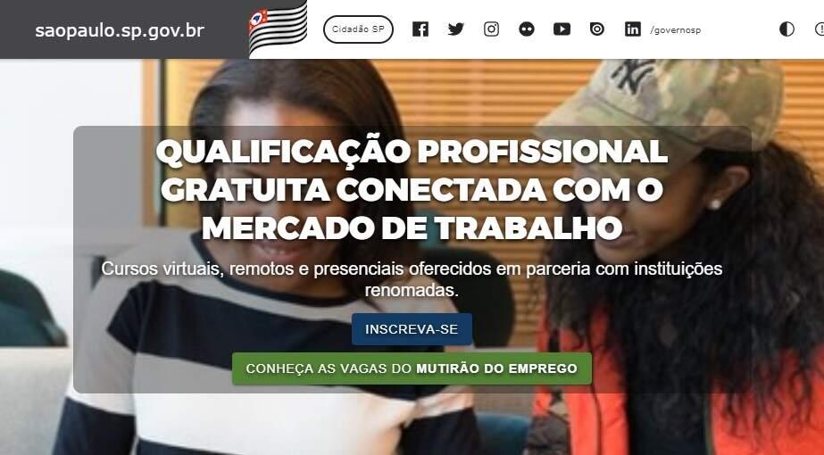 Governo de São Paulo abre 240 mil vagas em cursos de capacitação profissional