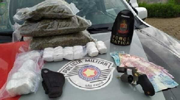 Homem é preso com 3,5 kg de drogas e arma de fogo em Sumaré