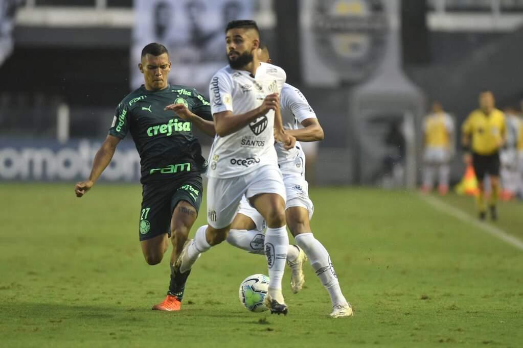 Santos e Palmeiras empatam e perdem chance de encostar nos líderes do Brasileiro