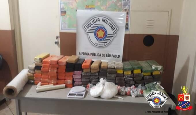 Homem é preso com 91 quilos de maconha em Sumaré