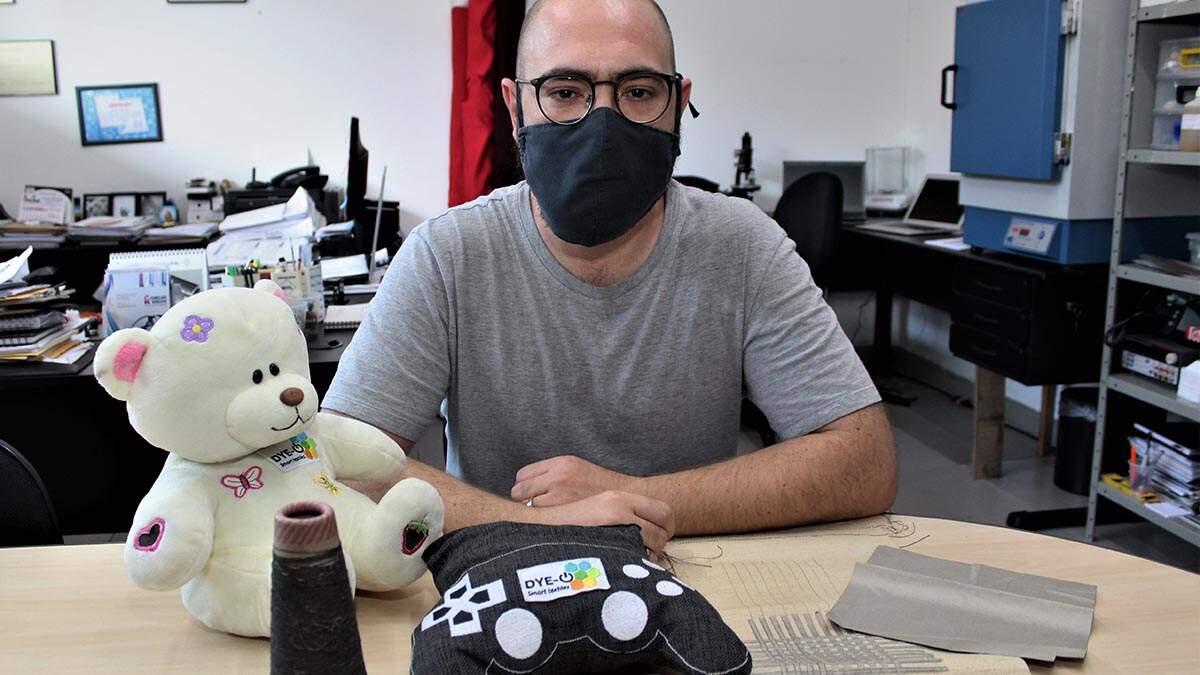 Empresa de Santa Bárbara cria tecido que conduz dados eletrônicos