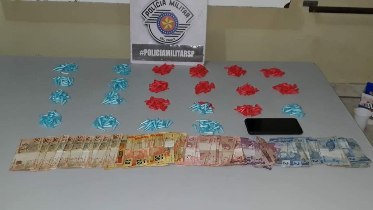 Jovem é preso com 425 pinos de cocaína no Frezzarin 2, Santa Bárbara d'Oeste