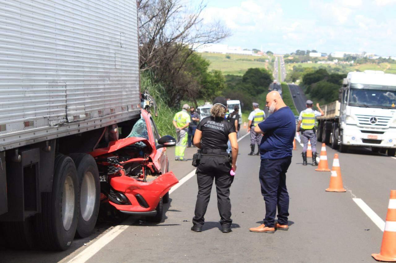 Acidente deixa um morto na SP-304, em Santa Bárbara