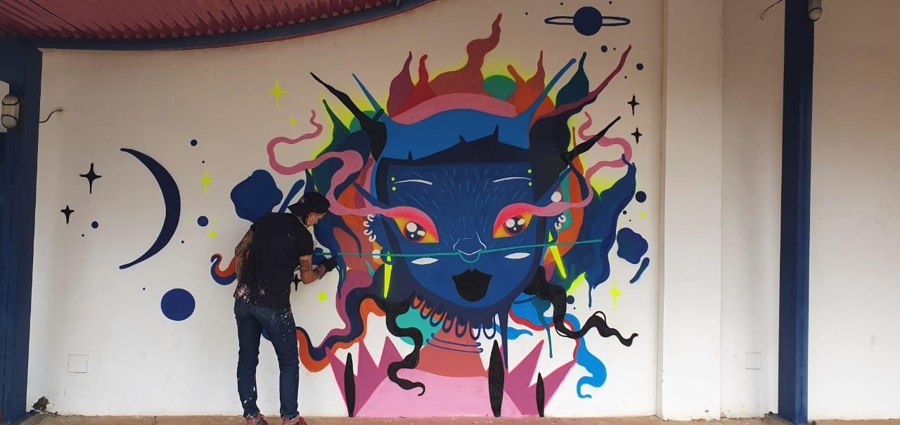 """Centro de Cultura recebe projeto de grafite """"CCL em cores"""""""