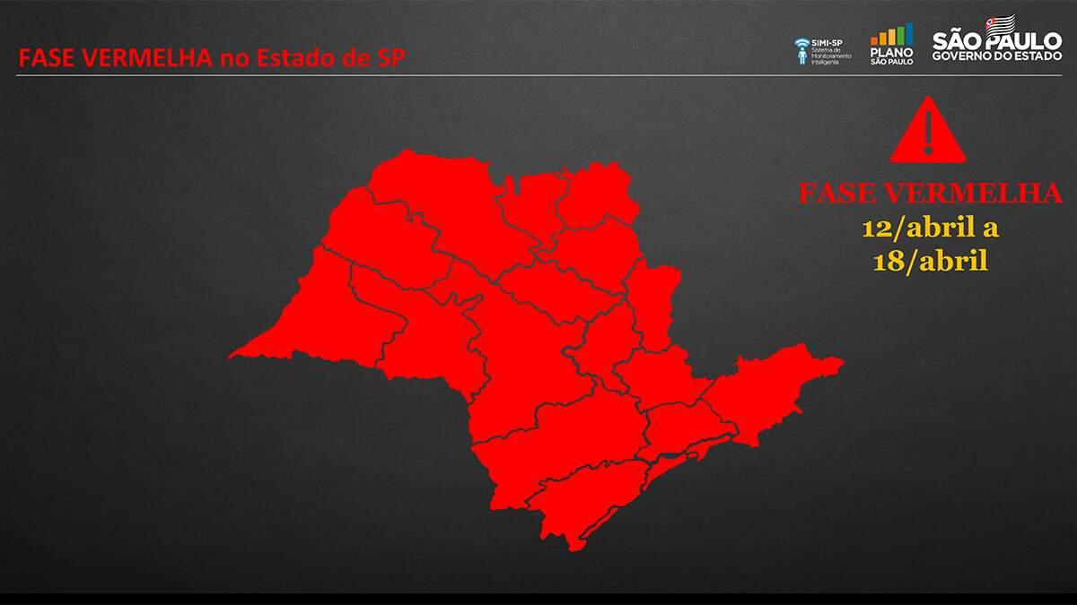 Região entra na fase vermelha do Plano São Paulo nesta segunda-feira