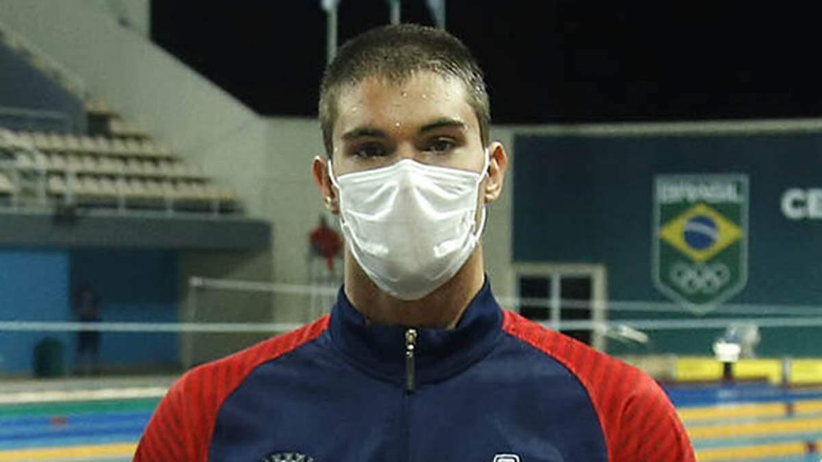 Com vaga garantida em Tóquio, Murilo tenta agora classificação nos 100 m livre