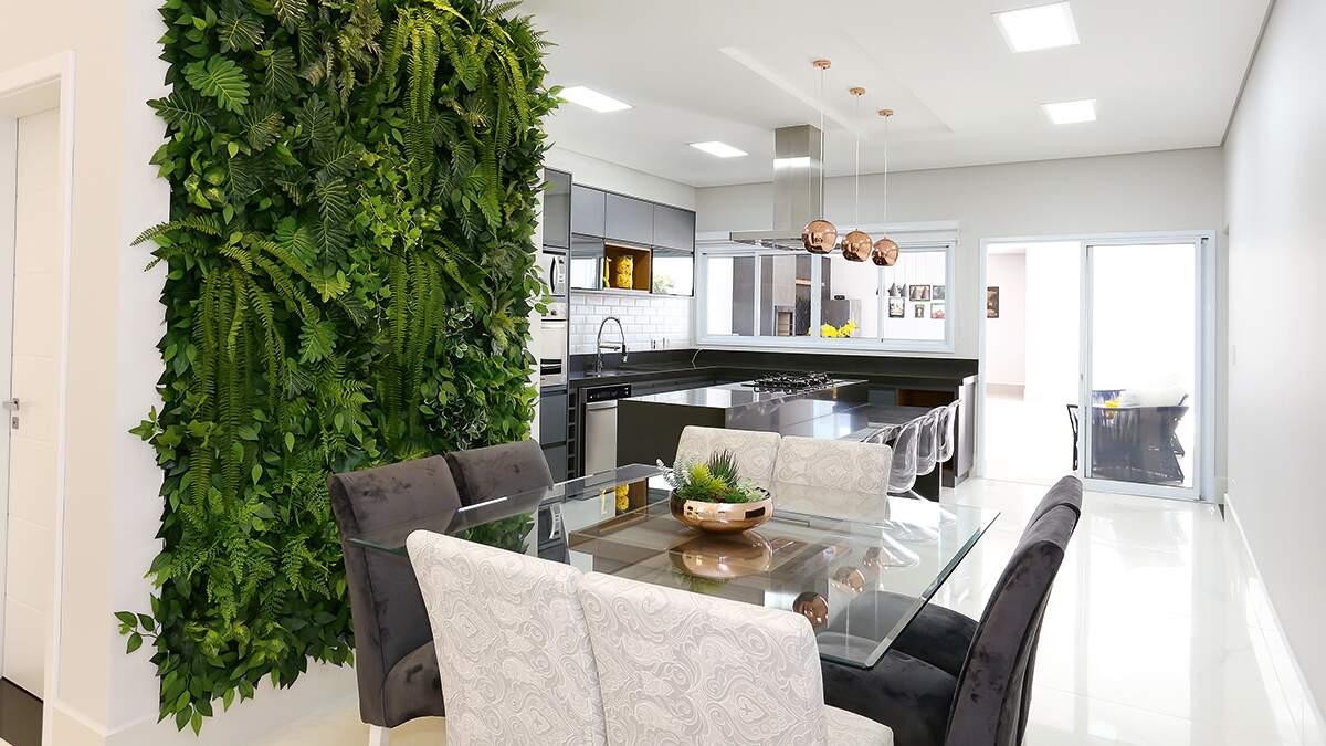 Verde das plantas tem espaço na decoração