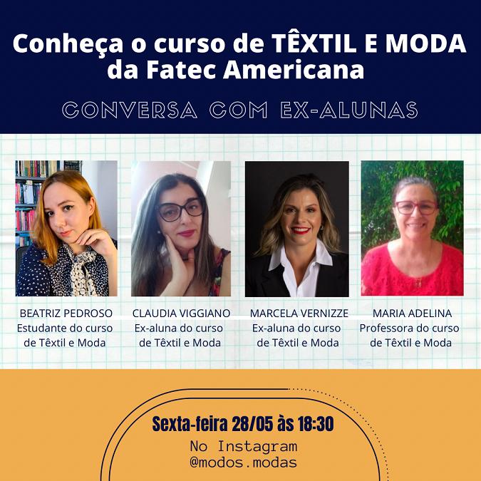 Lives apresentam curso de Têxtil e Moda da Fatec