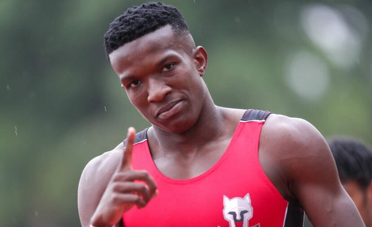 Felipe Bardi vence o Meeting de Braga nos 100 m rasos, em Portugal