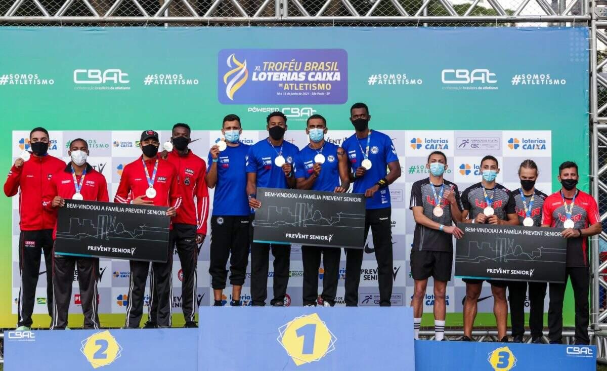 Felipe Bardi conquista a prata nos 4x100 m rasos do Troféu Brasil