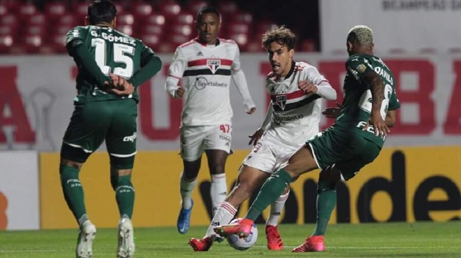 São Paulo tem dois gols anulados e empata clássico com Palmeiras