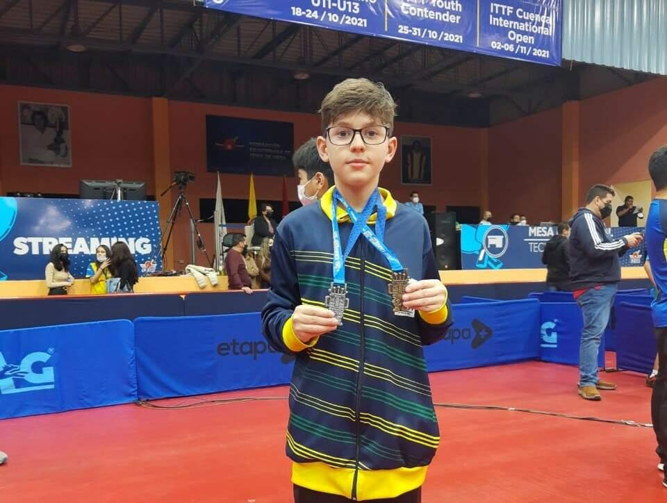 Mesatenista americanense é vice-campeão individual no Pan-Americano
