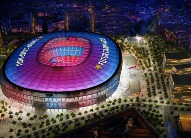Mesmo endividado, Barcelona prepara complexo esportivo estimado em quase R$ 10 bilhões